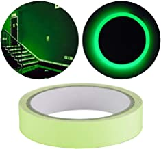 TRIXES Luminous Glow in the Dark Tape – Self-Adhesive Durable and Removable Sticker - Safety and Decorative Aid – Green Colour – 2cm x 5M Roll