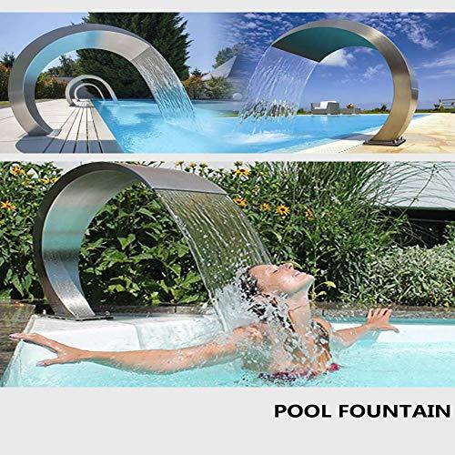 DSHUJC Überlauf Edelstahl Pool Brunnen Wasserfall Schwimmbad Teich Garten Wasserspiel Entspannung 40 cm, 400 * 200 (Größe: 400 * 300)