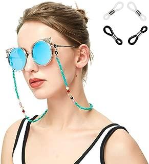 Bigood Green Beads Sunglasses Eyeglass Chain Reading Glass Cord Retainer Holder