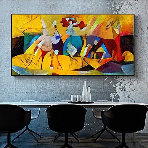 Moderne Abstrait Picasso CéLèBre Peinture Affiches Et Toile Tableau Peinture Murale Art pour Salon Decoration à La Maison sans Cadre