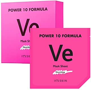 It'S SKIN Power 10 Formula VE Mask Sheet Set 10 Sheets - Skin Nourishing & Moisturizing Facial Mask Sheet, Radiance, Healt...