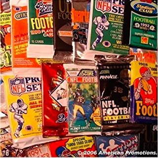 NFL Football Trading Cards. Collection of NFL Football Card Set of 30 Unopened Assorted Packs From Different Years and Brands. Includes AUTOGRAPHED SIGNED Booklet of Sports Card Mania.