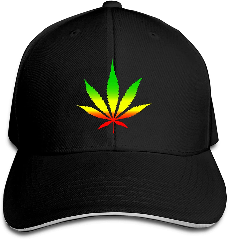 Reggae Rasta Marijuana Leaf Weed Baseball Cap Unisex Print Asjustable Hip Hop Fashion Cool Snapback Hats