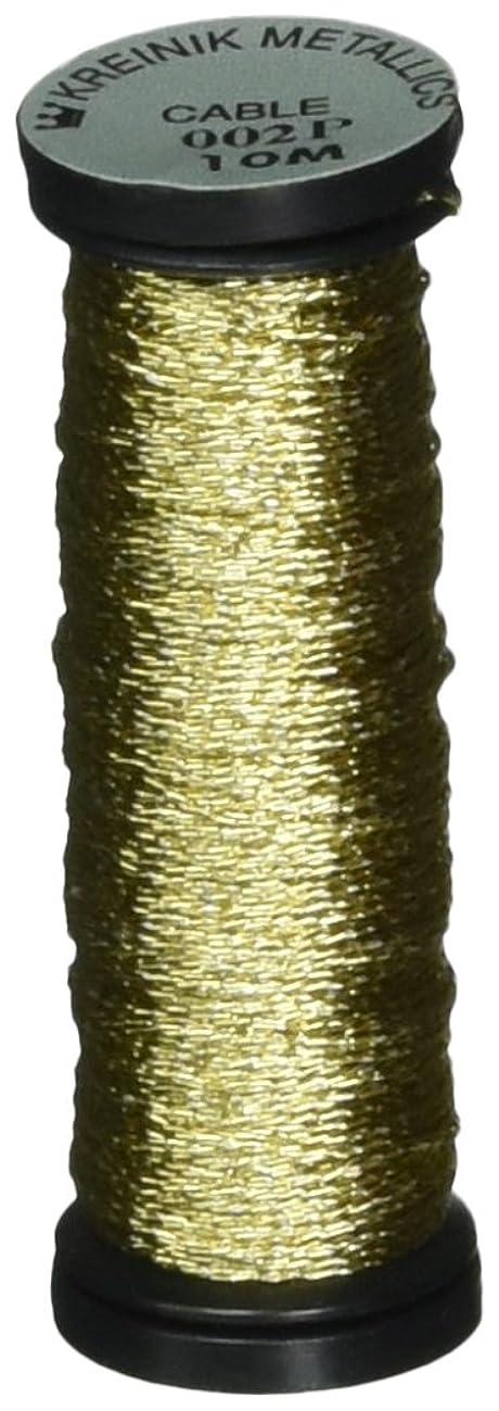 Kreinik Metallic Cable 3-Ply, 10m, Gold