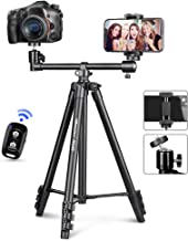 UBeesize 50-inch Phone Tripod Stand with Extended Arm, Portable Horizontal Tripod with 360° Adjustable Ball Head for Video...