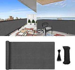 MIKK Balcony Privacy Screen, Privacy Cover Fence Screen Shield for Apartment Porch Deck Outdoor Backyard Patio Balcony 3×1...