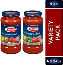 BARILLA Tomato & Basil and Traditional Premium Pasta Sauce Variety Pack, 24 Ounce..