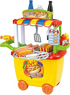 Playgo 3512 30 Pieces Gourmet Hot Dog Cart