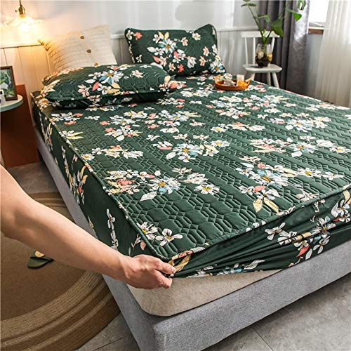 haiba Sábanas profundas de algodón para cama individual, doble, king y super king, sábana de cama de 180 x 200 + 30 cm