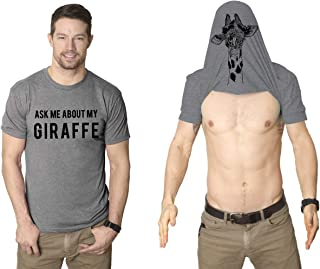 Ask Me About My Giraffe T Shirt Funny Zoo Animal Costume Flip Up Tee