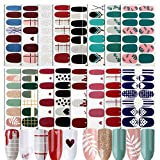 FLOFIA 16 Blatt Nagelsticker Selbstklebend Nagelfolie Nagelaufkleber Nagel Kunst Sticker Nail art Tattoos Nagel Abziehbilder (D)