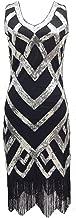 1920s Vintage Sleeveless Crisscross Fringe Sequin Flapper Dress Roaring 20s Dress Jazz Party Dance Costumes