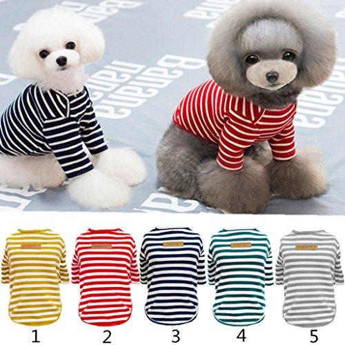 Pet Kleidung Haustier Hund Katze T-Shirt Pullover Herbst Klassischen Streifen - Rot, XL