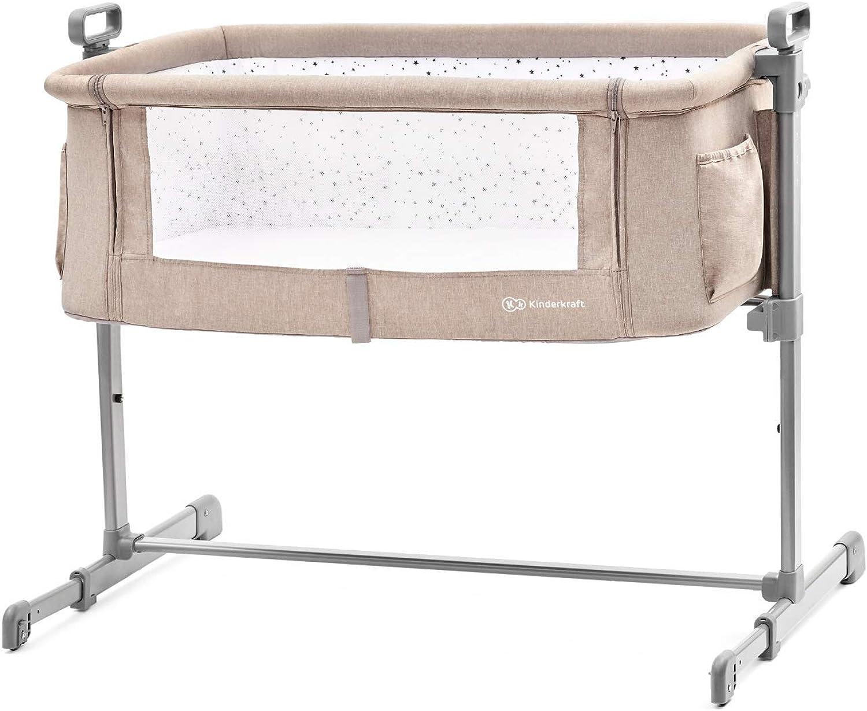 Kinderkraft Neste 2in1 Beistellbett mit Matratze Babybett Kinder Baby Reisebett, beige