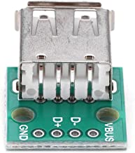 Akozon 10Pcs USB Type A Female Socket Breakout Board 2.54mm Pitch Adapter Connector DIP for DIY USB Power Supply/breadboard Design