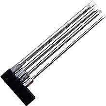 Broppe 4pcs Flat Head Slotted Tip Screwdriver Bit Set 150mm/6 inch Long Magnetic 3mm 4mm 5mm 6mm 1/4 Inch Hex Shank