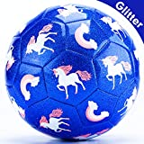 CubicFun Kids Soccer Ball Size 3 with Pump Toddlers Kids Outdoor Toys for Kids Ages 4-8 Toddler Toys Age 2-4 Outdoor Kids Toys for Backyard Unicorn Gifts Toys for 2 3 4 Year Old Boys Girls