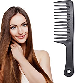 Chennie Wide Tooth Comb Black Detangling Hair Comb Styling Comb for Long,Wet or Curly Hair Combs Set for Women and Girls (...