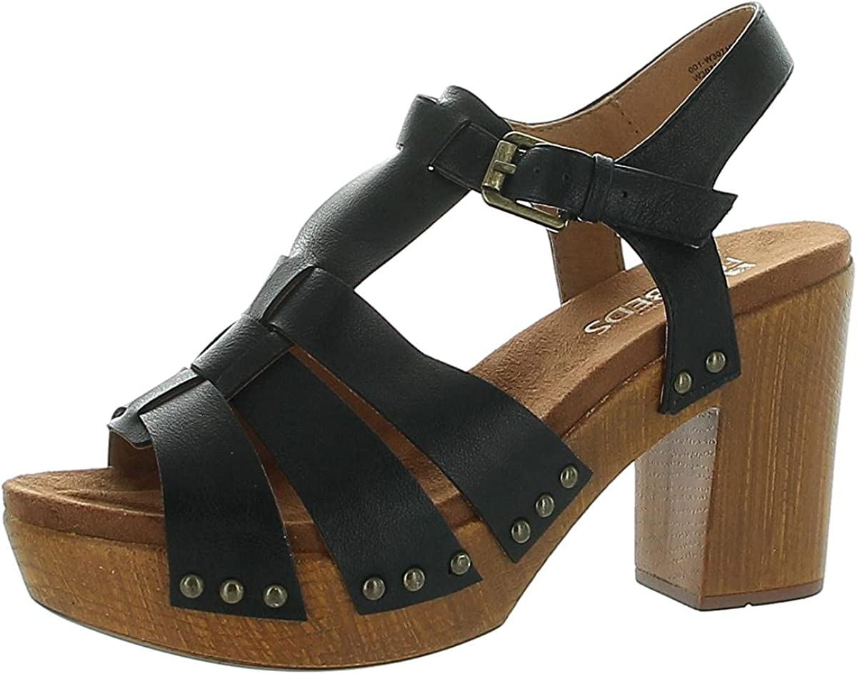 WHITE MOUNTAIN Shoes Tuition Womens Ankle Strap Platform Heel