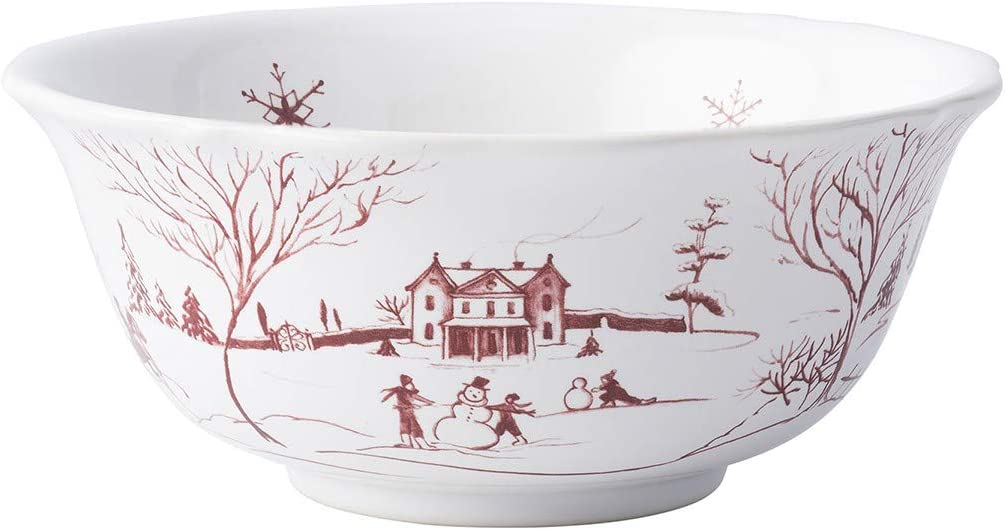 Juliska Country Estate Winter Frolic OFFicial store Cream Ruby Ice New arrival Cereal Bowl