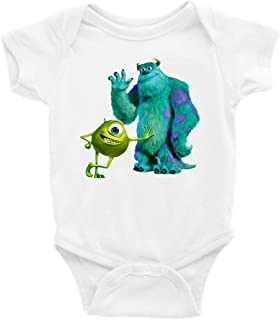 Mike and Sully Monster's Inc. Short Sleeve Unisex Onesie