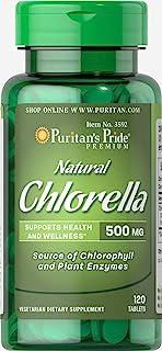 Puritan's Pride Natural Chlorella 500 mg-120 Tablets