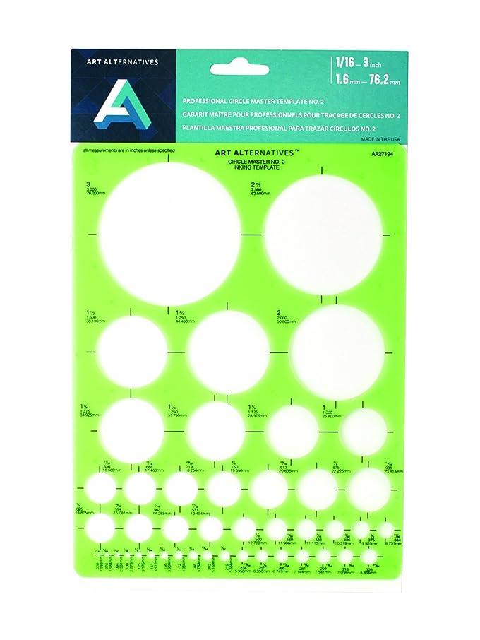 Art Alternatives Professional Circle Master 2 Template,Green