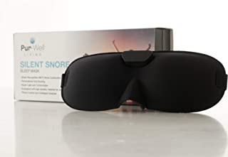 Pur Silent Snore Stopping Sleep Mask - Anti Snoring Mask - Smart Snore Stopper (Smart Recognition Technology - with The Advanced Bone Conduction and Sound Recognition Technologies)