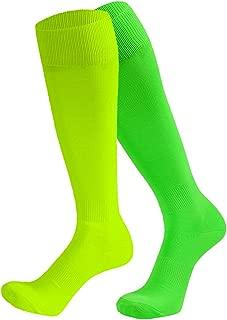 Unisex Soccer Socks Knee High Solid Baseball Football Sports Team Socks 2,6,10 Pairs