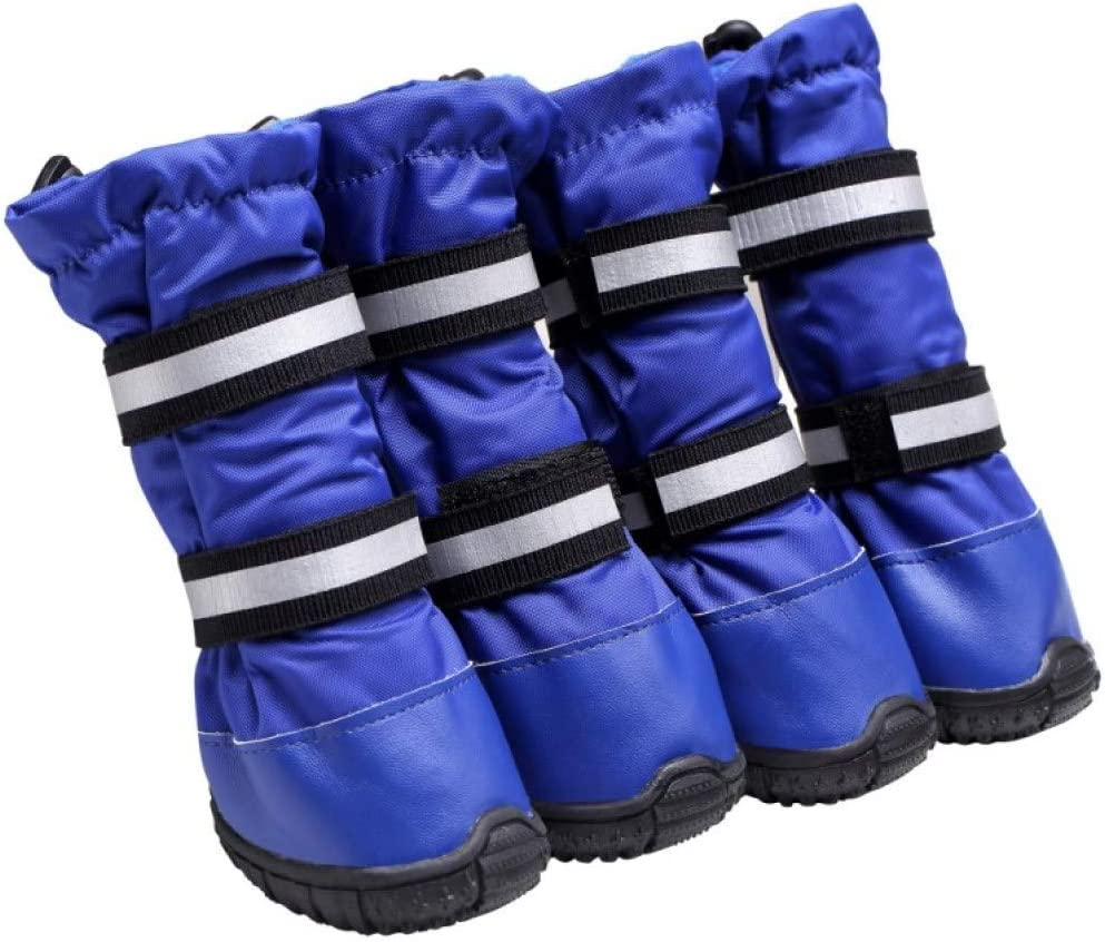 JHKSO 4Pcs Pet Dog Complete Free Shipping Winter Snow Waterproof Durable Non Boots Chicago Mall Warm