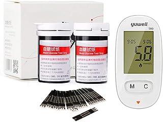 VAILANG Medidor automático de glucosa en azúcar en la Sangre hogar con glucómetro de Tiras reactivas de 50 Piezas
