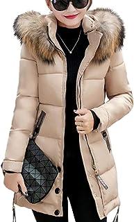 XJJZS Chaqueta de Invierno Abrigo con Capucha para Mujer Chaqueta de algodón Chaqueta de Invierno Chaqueta Acolchada para ...