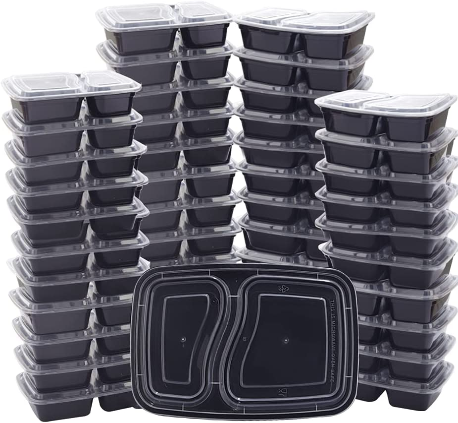THALIA 50pcs Meal Prep OFFicial store Containers 32oz Food Bento Box Storage Phoenix Mall 2