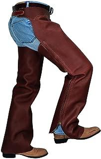 Weaver Leather CHAPS,SHOTGUN,BROWN SPLITS,MD