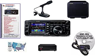 Bundle - 7 Items: Includes Yaesu FT-991A Transceiver, Desk Mic, 23A PSU, Matching External Speaker, Nifty! Mini-Manual, RT Systems Prog. Software/Cable Kit and Ham Guides TM Quick Reference Card!!