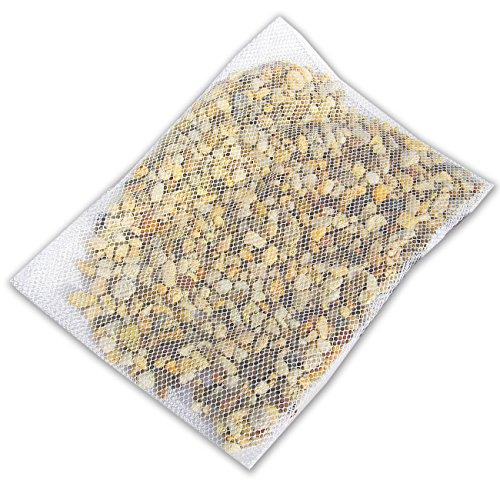 MGS SHOP Reinigungsnetz für Zierkies & Ziersplitt 30 x 40 cm für ca 5kg Kies Steine Splitt