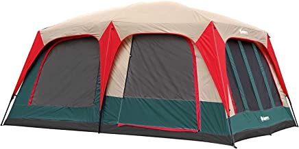 GigaTent 8 Person Family Tent - 3 Room Cabin Tent for Outdoors, Parties, Camping, Hiking, Backpacking - Waterproof, Durable Heavy Duty Material, Portable & Easy to Set Up - with Carry Bag