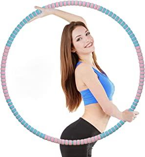 Auralto Fitness Exercise Circles for Adults Weight Loss, Workout Circles 8 Section Stainless Steel Inner Core Detachable D...