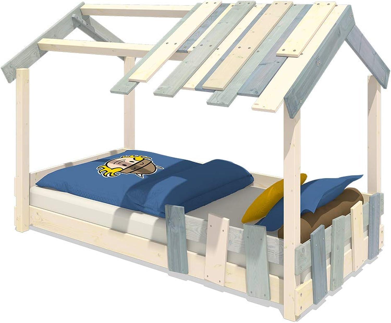WICKEY Kinderbett 'CrAzY Beach' - Bodentiefes Spielbett - Einzelbett - 90x200 cm