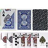 TX GIRL Juego De Tarjetas De Plástico Impermeable De PVC Texas Hold'em 2 Esmerilado Lateral Antideslizante Poker Club Palabra Grande del Póker del Casino Juego De Mesa Azul - 1 Cubierta