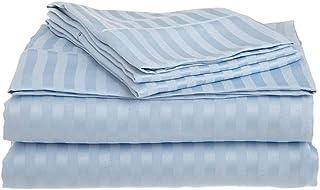 """Details about  /Exclusive sale My pillows 4PCs sheet set 100/%Cotton Light Blue Stripe 8-22/""""Deep"""