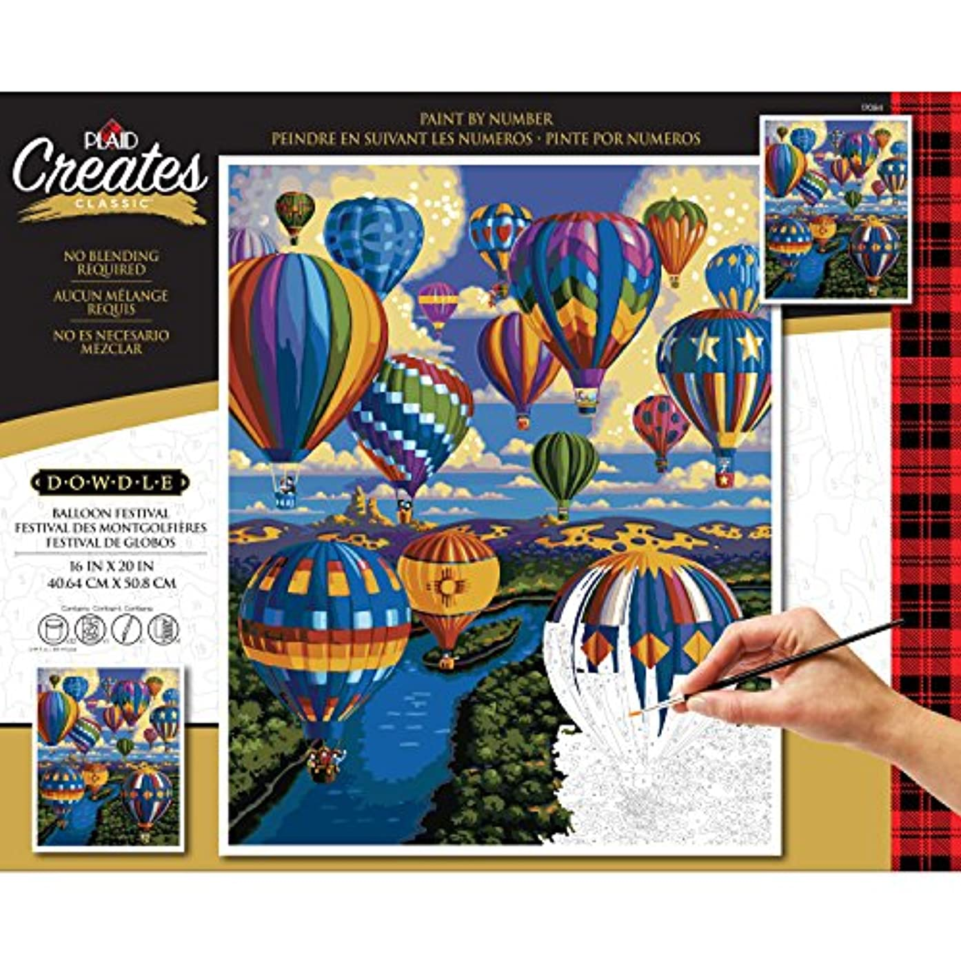 Plaid Creates 17084 Paint by Number Kit 16