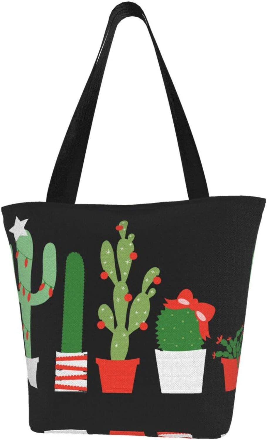 Sale item 1 year warranty AKLID Christmas Cactus Extra Large Tote Canvas Water Resistant B