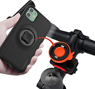 Bike Phone Mount Detachable Adjustable 360° Rotation Universal Motorcycle Phone Mount Mountain Bicycle Phone Holder with Quick Lock for iPhone 11 Pro Max Xr Xs X 8 Plus Samsung Galaxy, Google Pixel