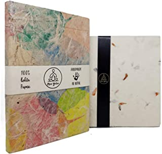 Eco-Friendly Handmade Lokta Paper Writing Journal Notebook - Bodhi Leaf