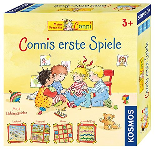 KOSMOS 697655 - Connis erste Spiele, Spielesammlung für Kinder ab 3 Jahren, vier verschiedene Kinderspiele für 2 - 4 Spieler