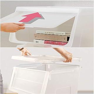 MU Boîte de Rangement Portable de ménage en Bois Massif, boîte en Plastique, Rangement pour vêtements, Jouet, Ouverture la...