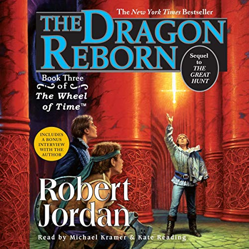 The Dragon Reborn     Wheel of Time, Book 3              By:                                                                                                                                 Robert Jordan                               Narrated by:                                                                                                                                 Kate Reading,                                                                                        Michael Kramer                      Length: 24 hrs and 48 mins     1,290 ratings     Overall 4.7