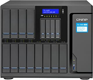 QNAP TS-1685-D1521-8G-US 12 (+4) Bay High-Capacity iSCSI NAS, Intel Xeon 4-core 2.4GHz, 8GB RAM, SATA6G, 4 x 1GbE, 2 x 10GbE (Base-T), 40GbE-Ready