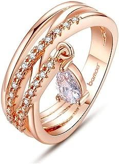 Anillos Joyeria Sortijas 18k de Compromiso Aniversario Matrimonio Boda Oro Plata Anel De Ouro Prata 925 Joyeria Fina Para Mujer RI009